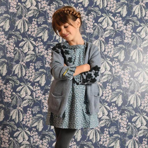 cardigan tejido niña vestido Pioppa invierno 2019