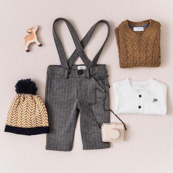 pantalon con tiradores bebe Pioppa invierno 2019