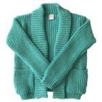 sacos de lana niñas tejidos Pompas invierno 2019