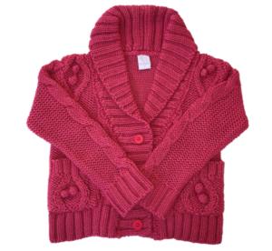 saquito lana niñas tejidos Pompas invierno 2019
