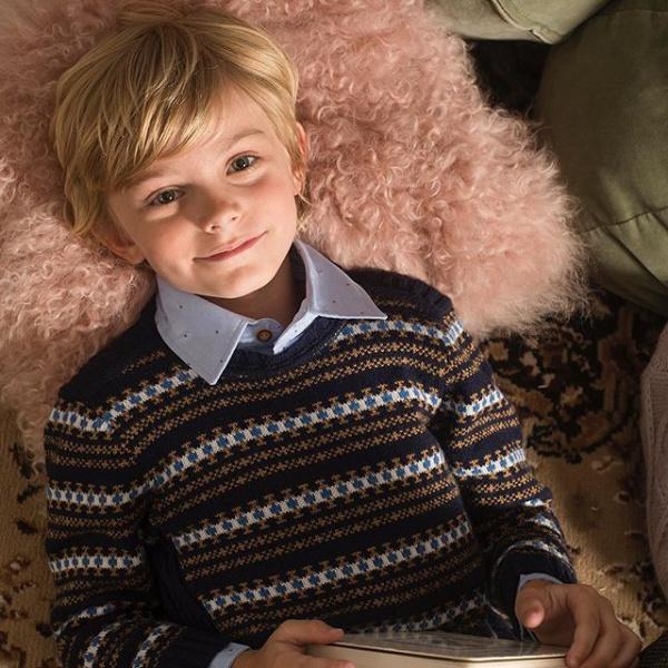 sweater lana niño Pioppa otoño invierno 2019