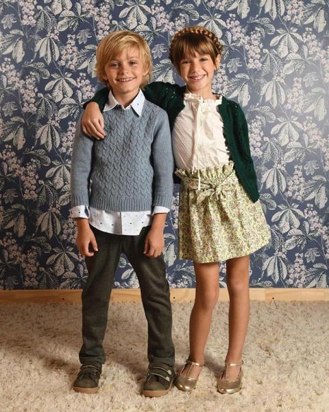 sweater y cardigans tejidos para niños Pioppa invierno 2019