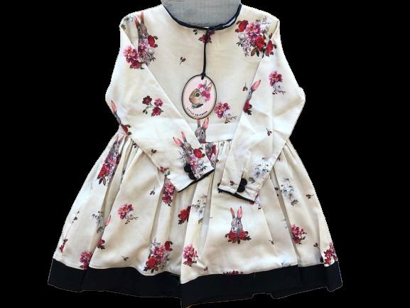 vestido estampada para fiestas niña Little Akiabara invierno 2019