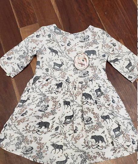 vestido estampado algodon niña Little Akiabara invierno 2019