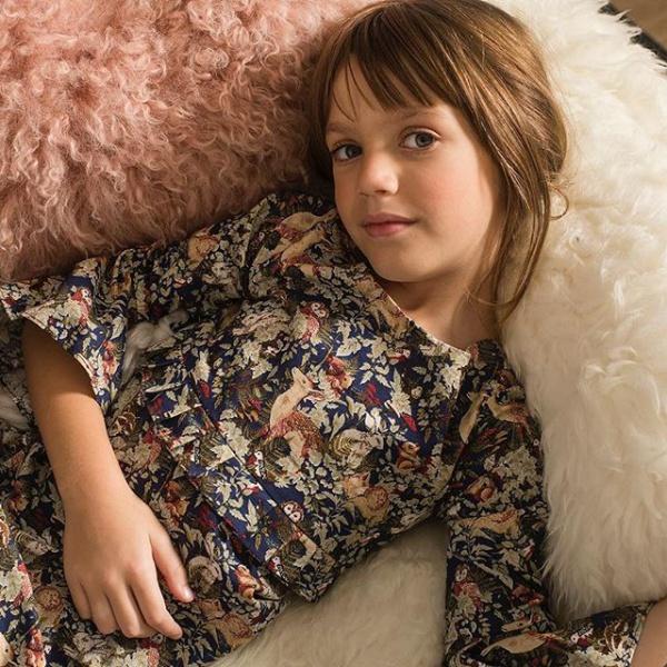 vestido estampado niña Pioppa otoño invierno 2019