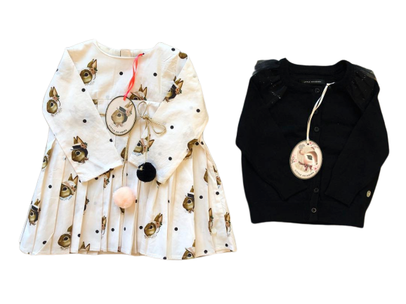 vestido estampas originales niña Little Akiabara invierno 2019