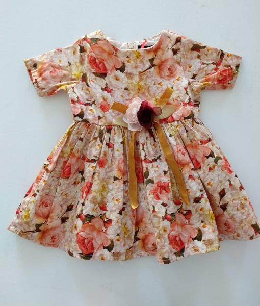 vestido mangas corta floreado niña Little Akiabara invierno 2019