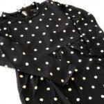 vestido mangas largas a lunares niña Little Akiabara invierno 2019