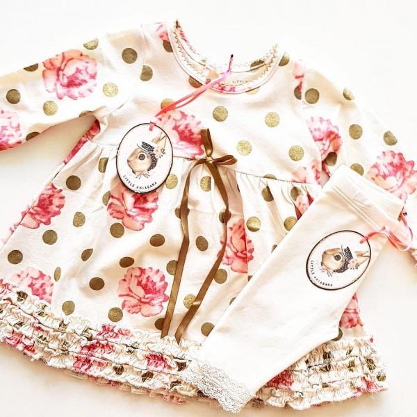 vestidos mangas largas para beba Little Akiabara invierno 2019