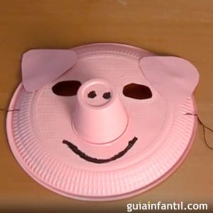 4700 manualidades de disfraces una mascara de cerdo