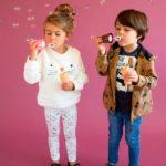 calzas estampadas y buzo peluche niña Broer enfants invierno 2019
