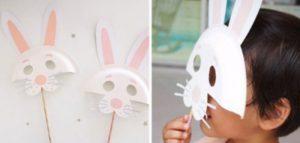 caretas de animales conejo