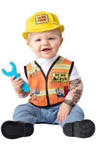 disfraz bebe constructor dia del trabajo