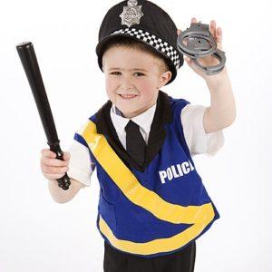 disfraz bebe policia dia del trabajo