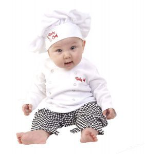 disfraz cocinero bebe dia del trabajo