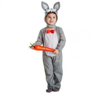 disfraz conejo gris para niño
