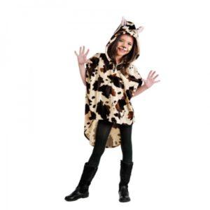 disfraz de poncho vaca con capucha para nina