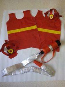 disfraz facil bombero niño dia del trabajo