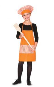 disfraz facil cocinera niña dia del trabajo