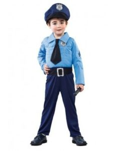 disfraz niño policia dia del trabajo