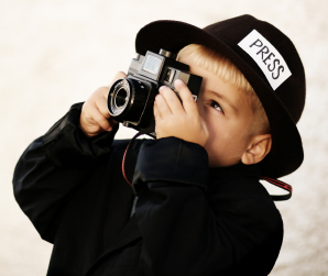 disfraz niño reportero fotografo dia del trabajo
