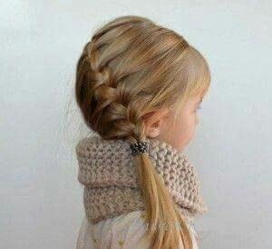 peinado de niña con trenza para el costado