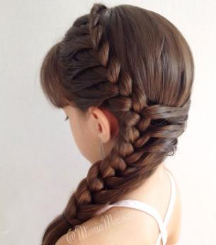 peinado original con trenza para niñas