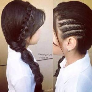 peinados originales con trenzas para niñas