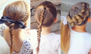 peinados recogidos con trenzas para niñas