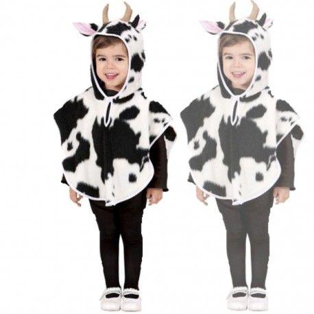 poncho vaca niños disfraz
