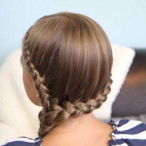 trenza para el costado peinado para niña