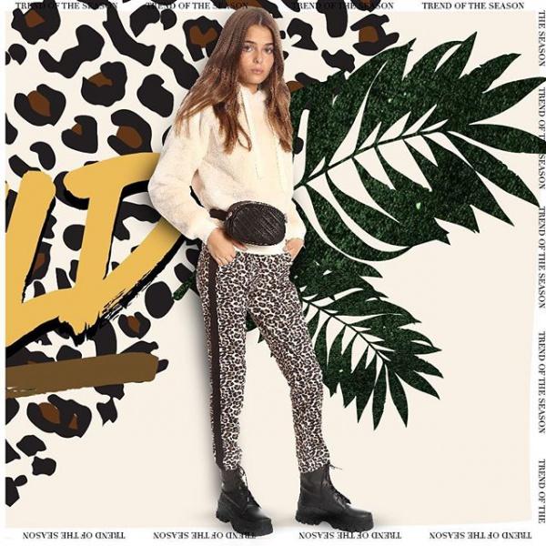 pantalones-animal-print-para-nenas-grandes-Ona-Saez-kids-invierno-2019
