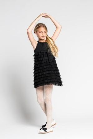 vestido-negro-de-fiesta-para-niñas-Mapamondo-invierno-2019