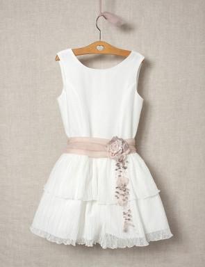 Vestido-de-microtul-niña-blanco-con-cinto-rosa-verano-2020