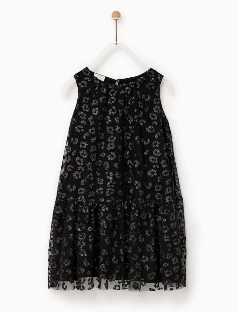 Vestido-de-microtul-niña-negro-verano-2020