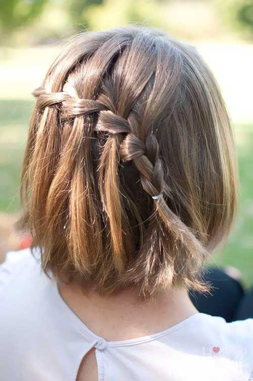 peinado-con-trenza-cascada-pelo-corto