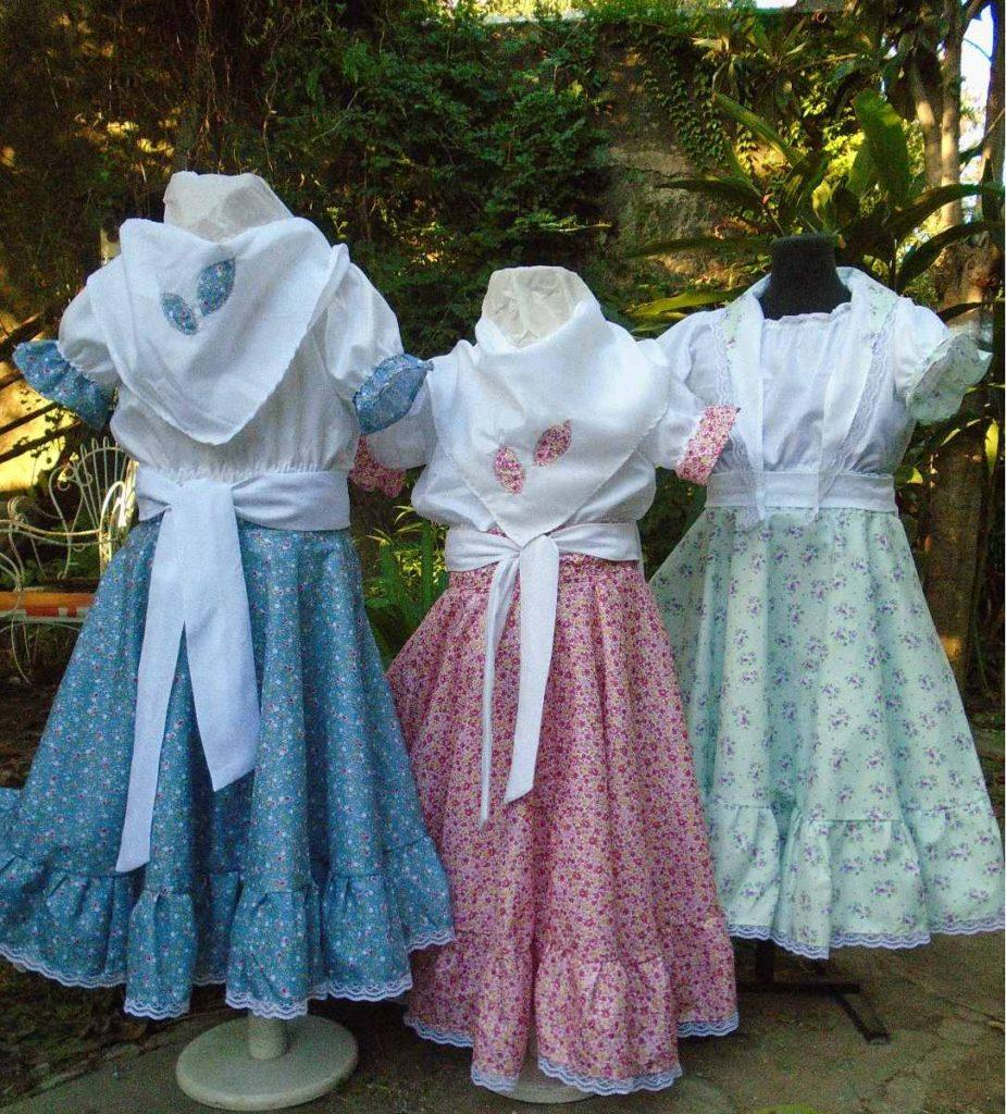 polleras-con-blusa-para-bailar-zamba-niñas