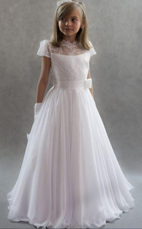 vestido-blanco-elegante-falga-plisada-de-niña-para-comunion