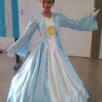 Vestido de niña para representar la bandera Argentina - 20 de Junio