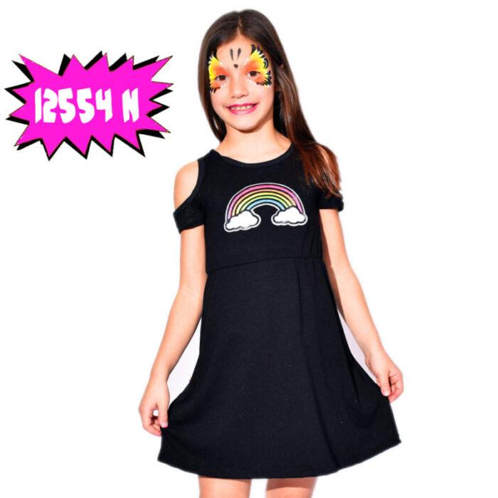 vestido-negro-con-arco-iris-niña-dilo-tu-verano-2020