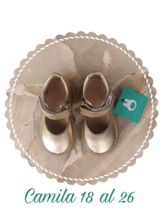 zapatos-dorados-para-niñas-Pitocatalan-verano-2020