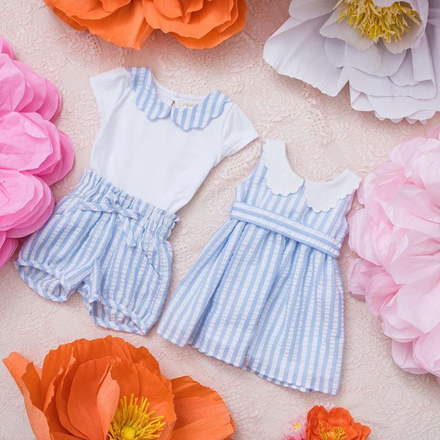 short-y-vestidos-a-rayas-niñas-Pioppa-verano-2020