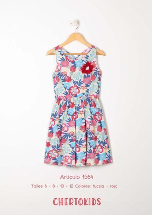vestido-corte-cintura-plisada-niña-verano-2020-Chertokids
