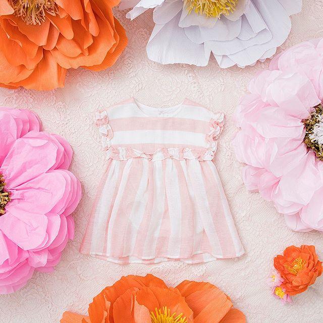 vestido-de-fiesta-a-rayas-para-niñas-pioppa-verano-2020