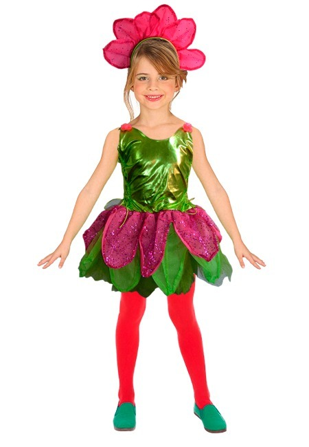 Disfraz De Flor Para Niña Minilook