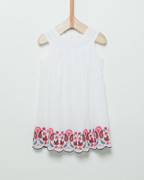 vestido-blanco-bordado-niña-Wanama Boys Girls-verano-2020