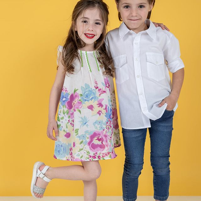 vestido-estampado-para-niñas-camisa-niño-alpiste-verano-2020