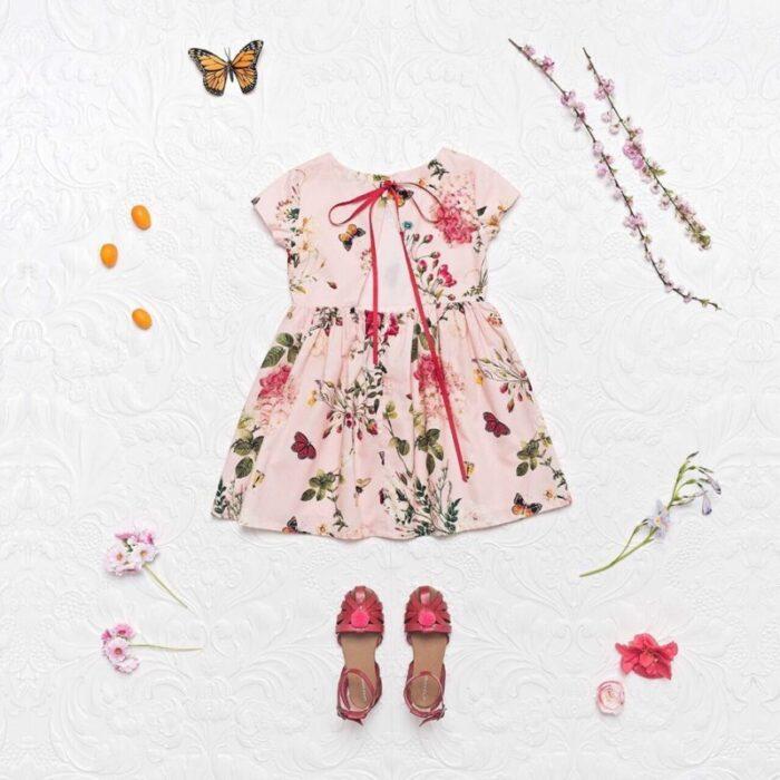 vestido-mangas-cortas-para-fiestas-para-niñas-Little-akiabara-verano-2020