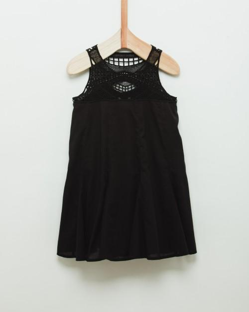 vestido-negro-para-niña-Wanama-Boys Girls verano-2020