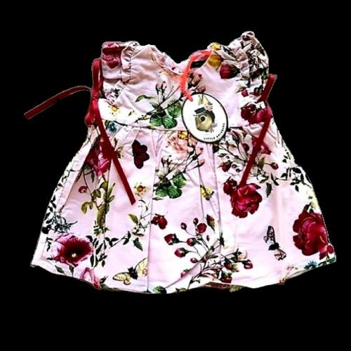 vestido-para-beba-floreado-Little-akiabara-verano-2020